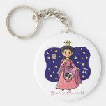 Princesa de los géminis llaveros personalizados
