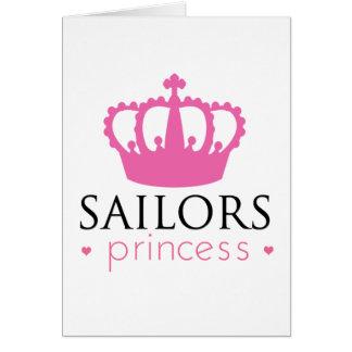 Princesa de los marineros tarjeta de felicitación