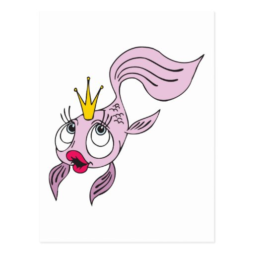 Princesa de los pescados postal