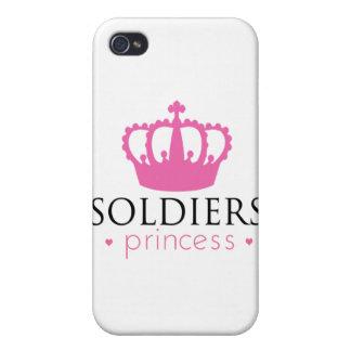 Princesa de los soldados iPhone 4/4S funda