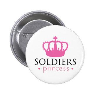 Princesa de los soldados pin redondo de 2 pulgadas