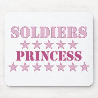 Princesa de los soldados tapete de raton