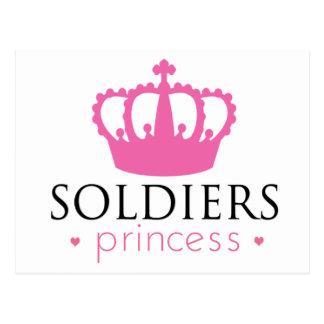 Princesa de los soldados tarjeta postal