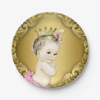 Princesa de lujo fiesta de bienvenida al bebé del platos de papel