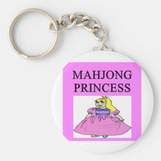 Princesa de MAHJONG Llavero Redondo Tipo Pin