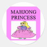 Princesa de MAHJONG Pegatinas Redondas