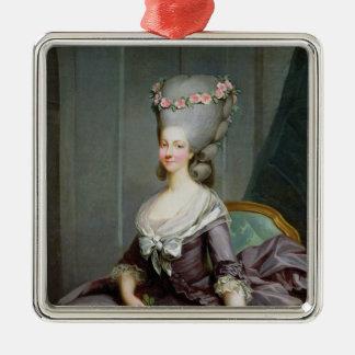 Princesa de Marie-Teresa de Saboya-Carignan Adorno Navideño Cuadrado De Metal