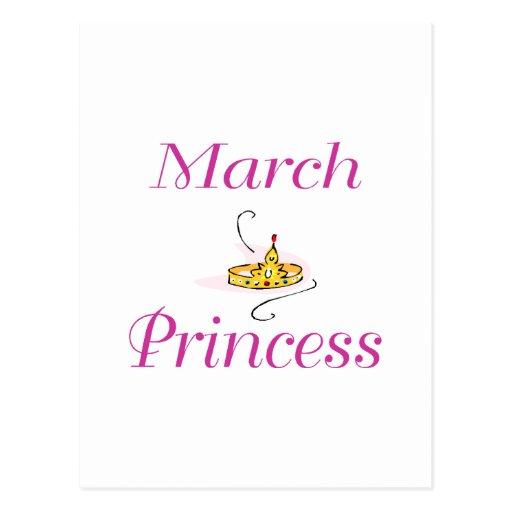 Princesa de marzo tarjetas postales