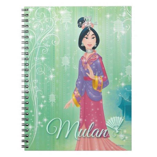 Princesa de Mulan Libro De Apuntes Con Espiral