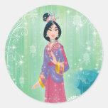Princesa de Mulan Pegatina