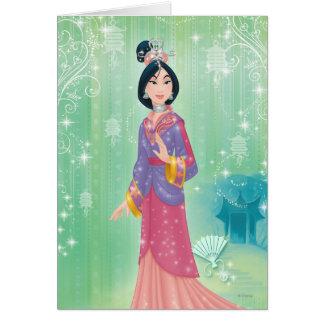 Princesa de Mulan Tarjeta De Felicitación