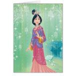 Princesa de Mulan Tarjeton