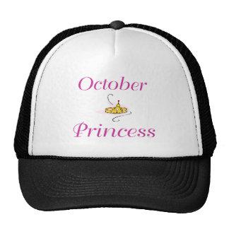 Princesa de octubre gorras