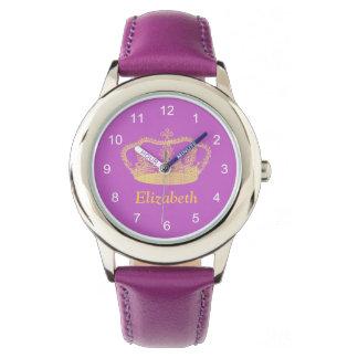 Princesa de oro clásica Crown Reloj