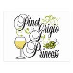 Princesa de Pinot Grigio Tarjetas Postales