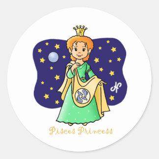 Princesa de Piscis Pegatina Redonda