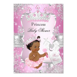 """Princesa de plata rosada fiesta de bienvenida al invitación 5"""" x 7"""""""