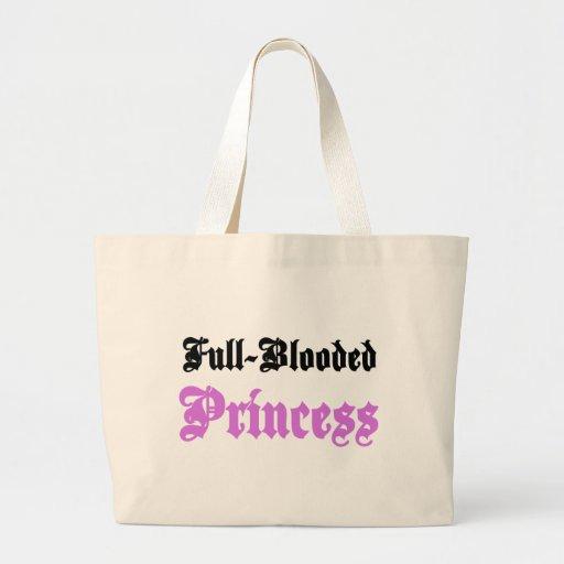 Princesa de pura raza bolsas lienzo