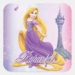 Princesa de Rapunzel Calcomanías Cuadradass