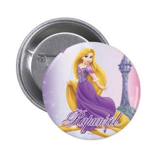Princesa de Rapunzel Pin Redondo De 2 Pulgadas