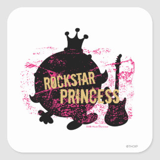 Princesa de Rockstar Pegatina Cuadrada