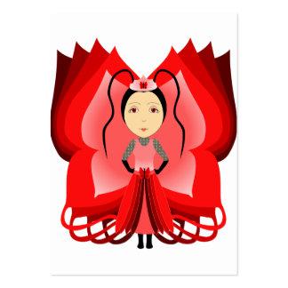 Princesa de rubíes de la mariposa plantilla de tarjeta de visita