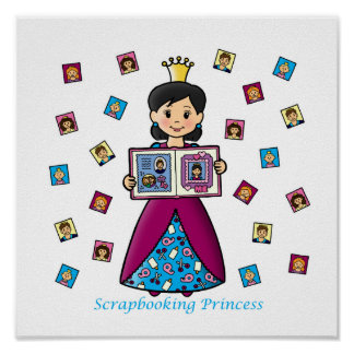 Princesa de Scrapbooking Póster