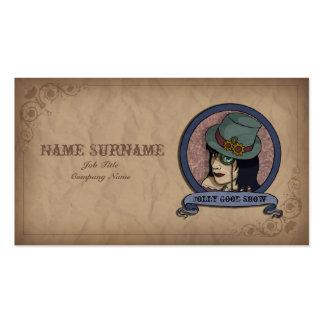 Princesa de Steampunk, plantilla de la tarjeta de Tarjetas De Visita