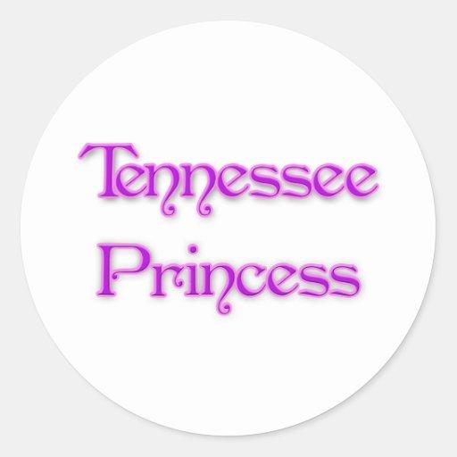 Princesa de Tennessee Pegatina Redonda