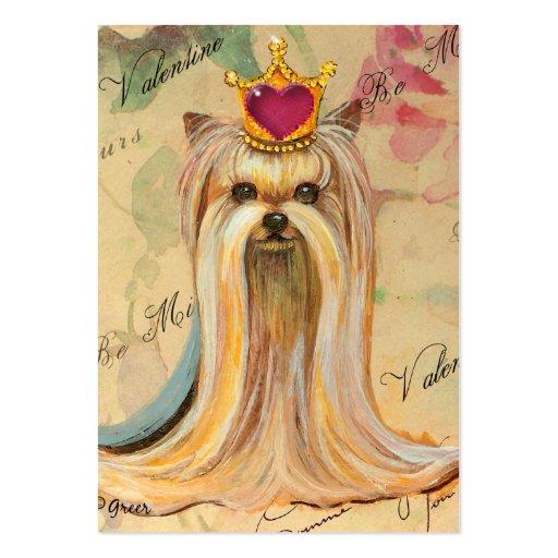 Princesa de Yorkie en el corazón de Redd de la cor Tarjeta De Negocio