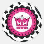Princesa decorativa Birthday Stickers Etiqueta