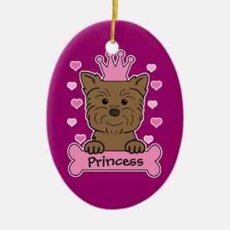 Princesa del Affenpinscher Ornamentos De Navidad