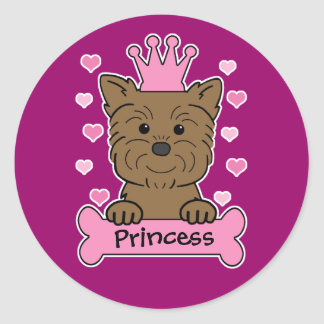 Princesa del Affenpinscher Pegatinas Redondas