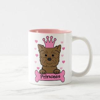 Princesa del Affenpinscher Taza De Dos Tonos