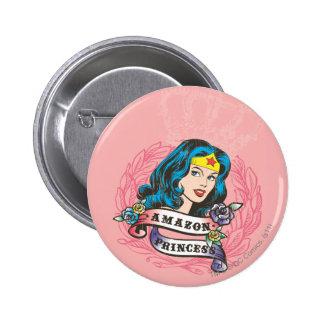 Princesa del Amazonas de la Mujer Maravilla Pin Redondo De 2 Pulgadas