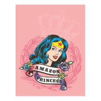 Princesa del Amazonas de la Mujer Maravilla Postal