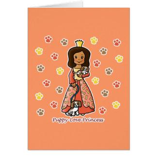 Princesa del amor adolescente felicitación