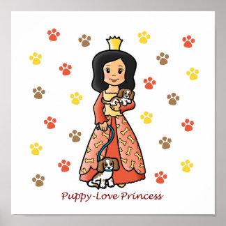Princesa del amor adolescente impresiones
