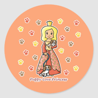 Princesa del amor adolescente pegatina redonda