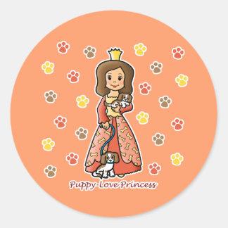 Princesa del amor adolescente pegatinas redondas