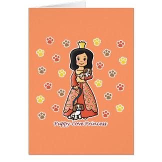 Princesa del amor adolescente tarjeta