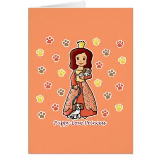 Princesa del amor adolescente tarjetas