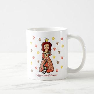 Princesa del amor adolescente taza de café
