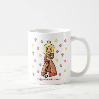 Princesa del amor adolescente tazas de café