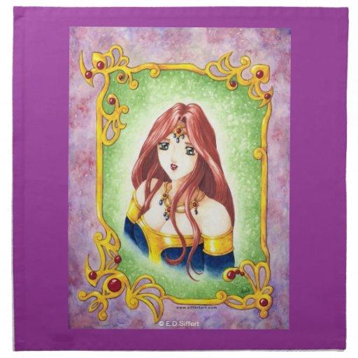 Princesa del animado servilleta