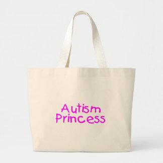 Princesa del autismo bolsa de tela grande