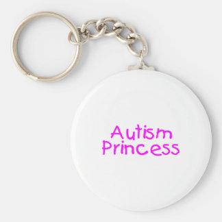 Princesa del autismo llavero redondo tipo pin