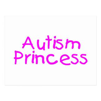Princesa del autismo (rosa) postal
