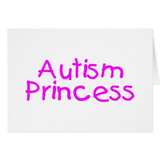 Princesa del autismo (rosa) tarjetón