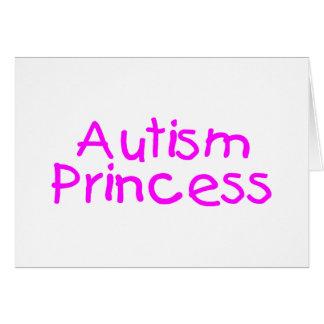 Princesa del autismo tarjeta de felicitación